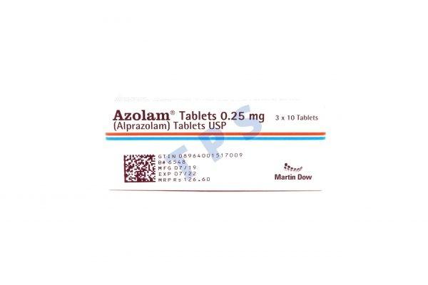 Azolam Tablets 0.25mg